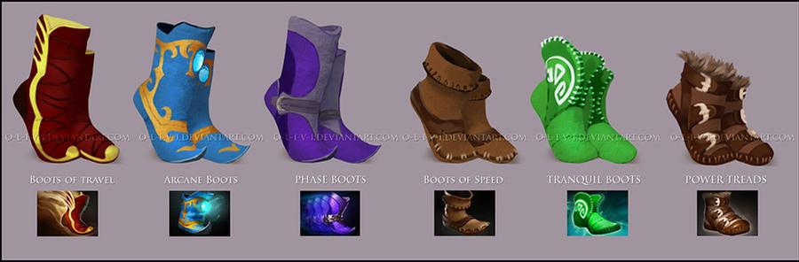 Dota 2 Boots by O-l-i-v-i