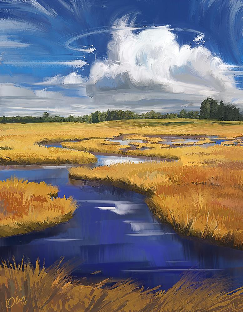 Summer landscape by O-l-i-v-i