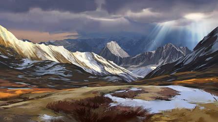 Mountain landscape by O-l-i-v-i