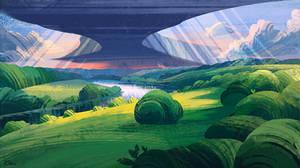 A striped landscape by O-l-i-v-i