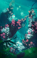 Water Flowers by O-l-i-v-i