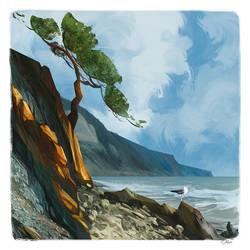 Landscape study by O-l-i-v-i