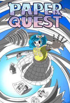 Paper Quest Papercut Girl Artwork