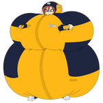 Android 21's Inflatable Capsule Corp Space Suit by ShawnyBoyMaker