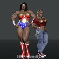 Cosplay: Wonder Woman and Wonder Girl 01