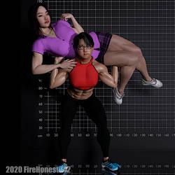 Pinups: Izumi Sisters 002