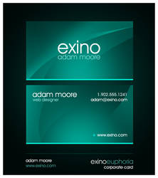Exino Business Card - Euphoria by elusive