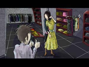 Chris and Nata shopping