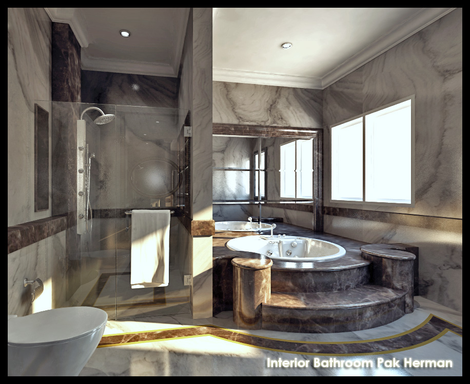 Full Marble Master Bathroom By Sansamuel On Deviantart