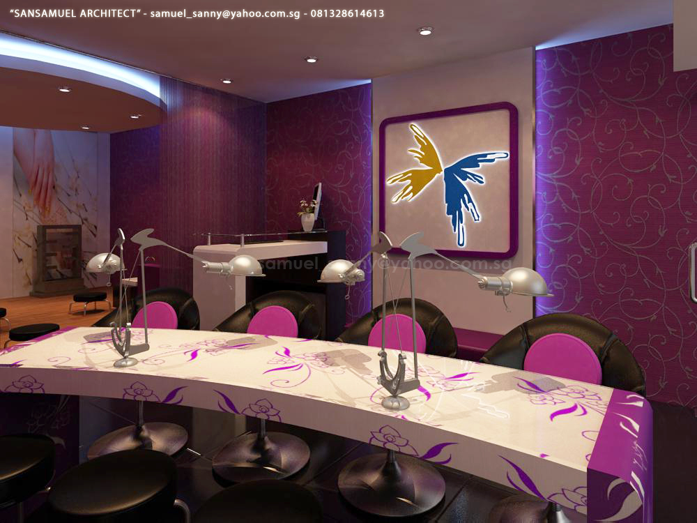 Nail salon 05 by sansamuel on deviantart for Decoration salon design