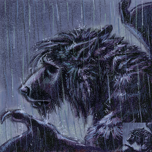 Depressed wolf drawing - photo#39