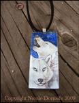 Midnight Howl glass pendant