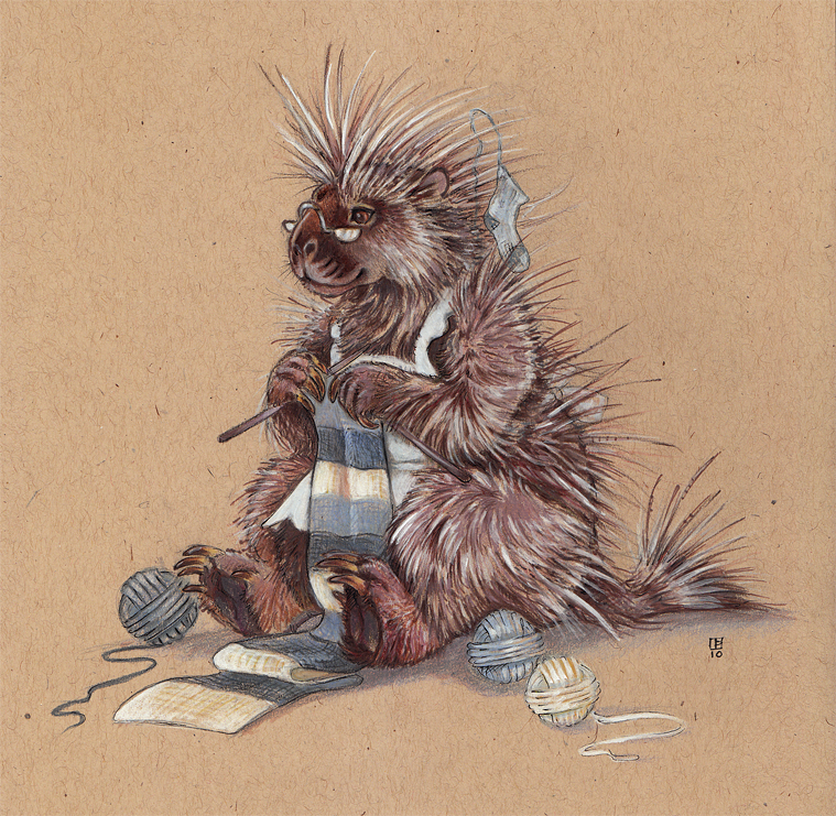 Knitting Needles by thornwolf