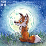 Fox in the Moon