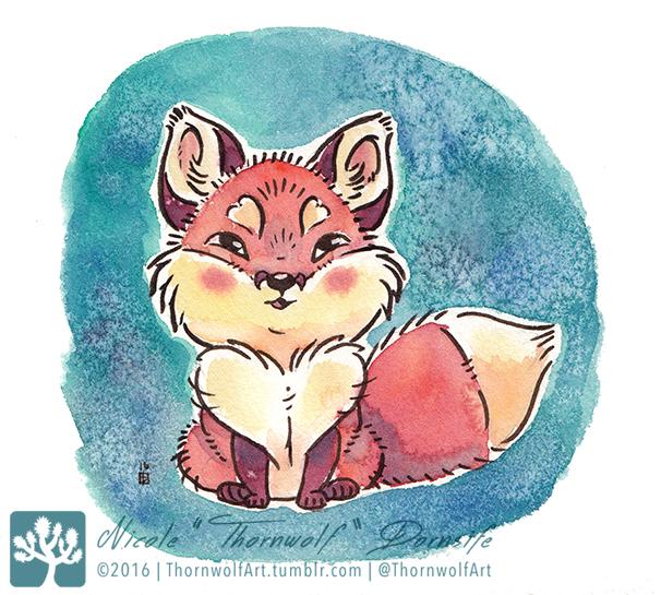 Tiny Fox by thornwolf