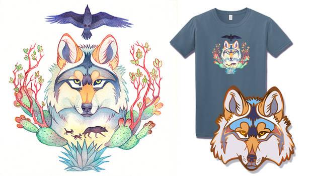 Mexican Wolf Pins and Shirts Kickstarter Ends Soon