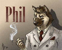 Phil Badge Blacksad Style by thornwolf