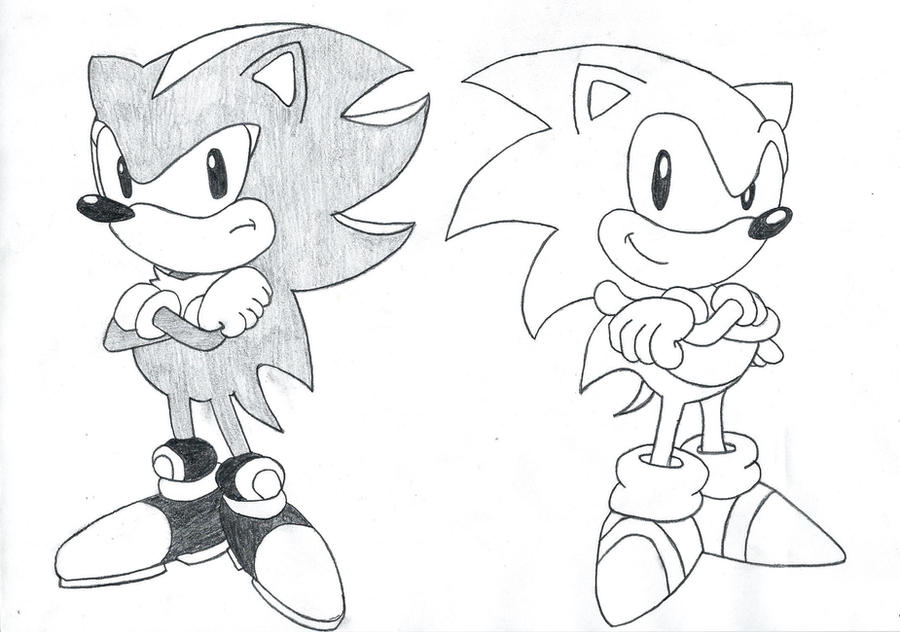 Classic sonic and shadow by skullkidhctk on DeviantArt