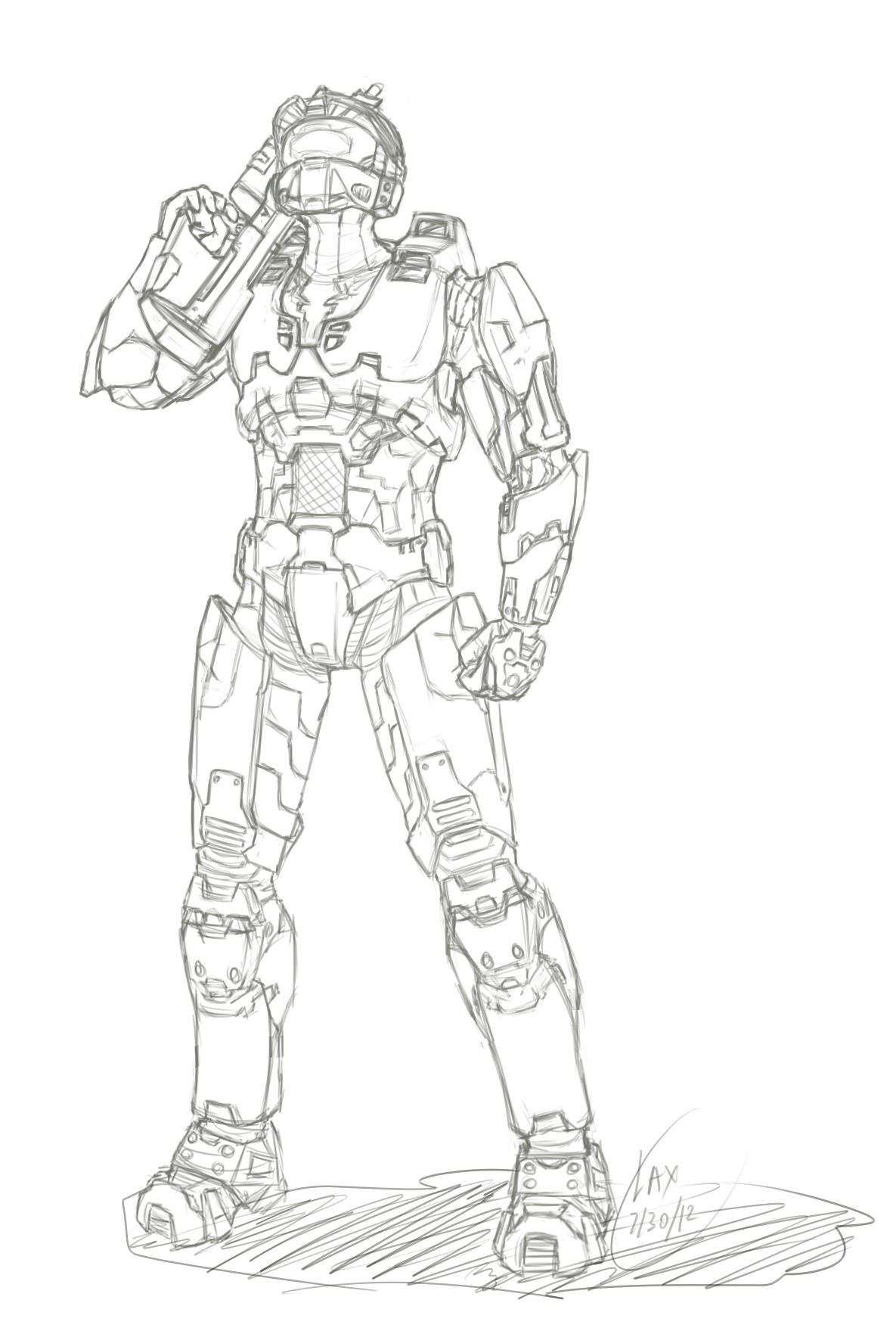 Fantástico Halo Master Chief Para Colorear Componente - Dibujos Para ...