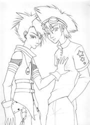 Tai and Matt by Yamato-Ayanami
