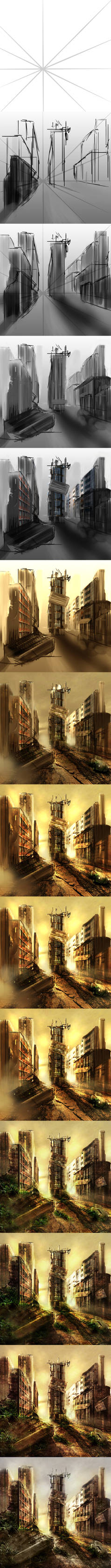 Post Apocalyptic Scene Process....