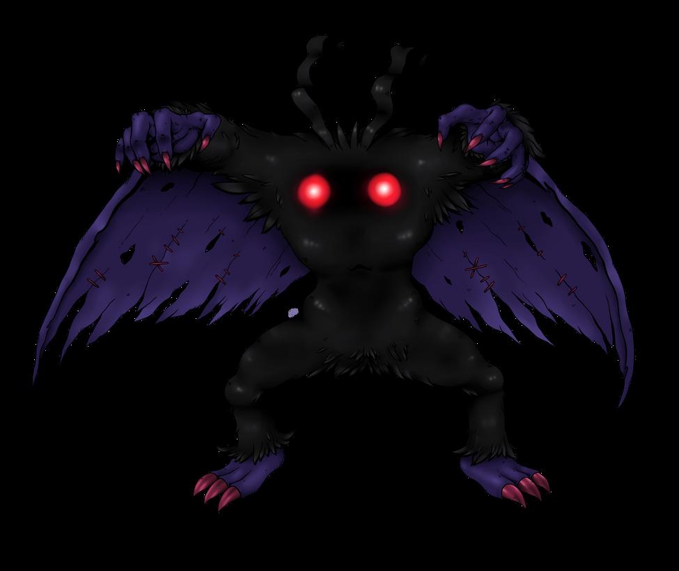Mothumon (red eyes) by AwkwardKlutz