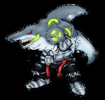 MegaloSharkmon by AwkwardKlutz