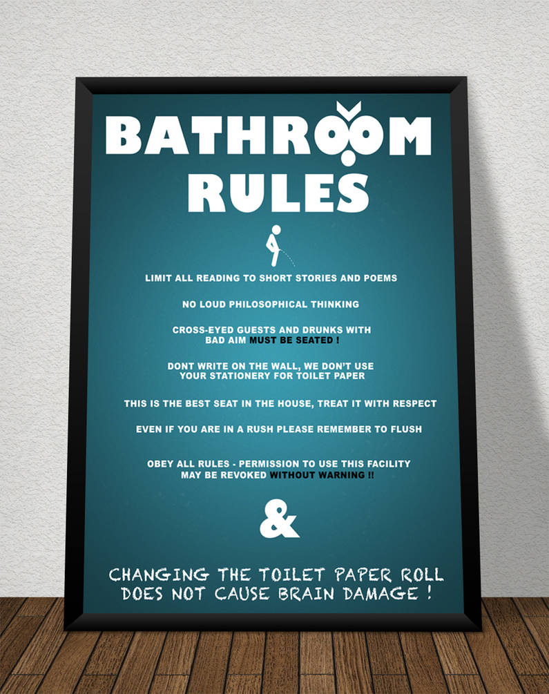 Toilet Rules Poster by Kingmartinus on DeviantArt