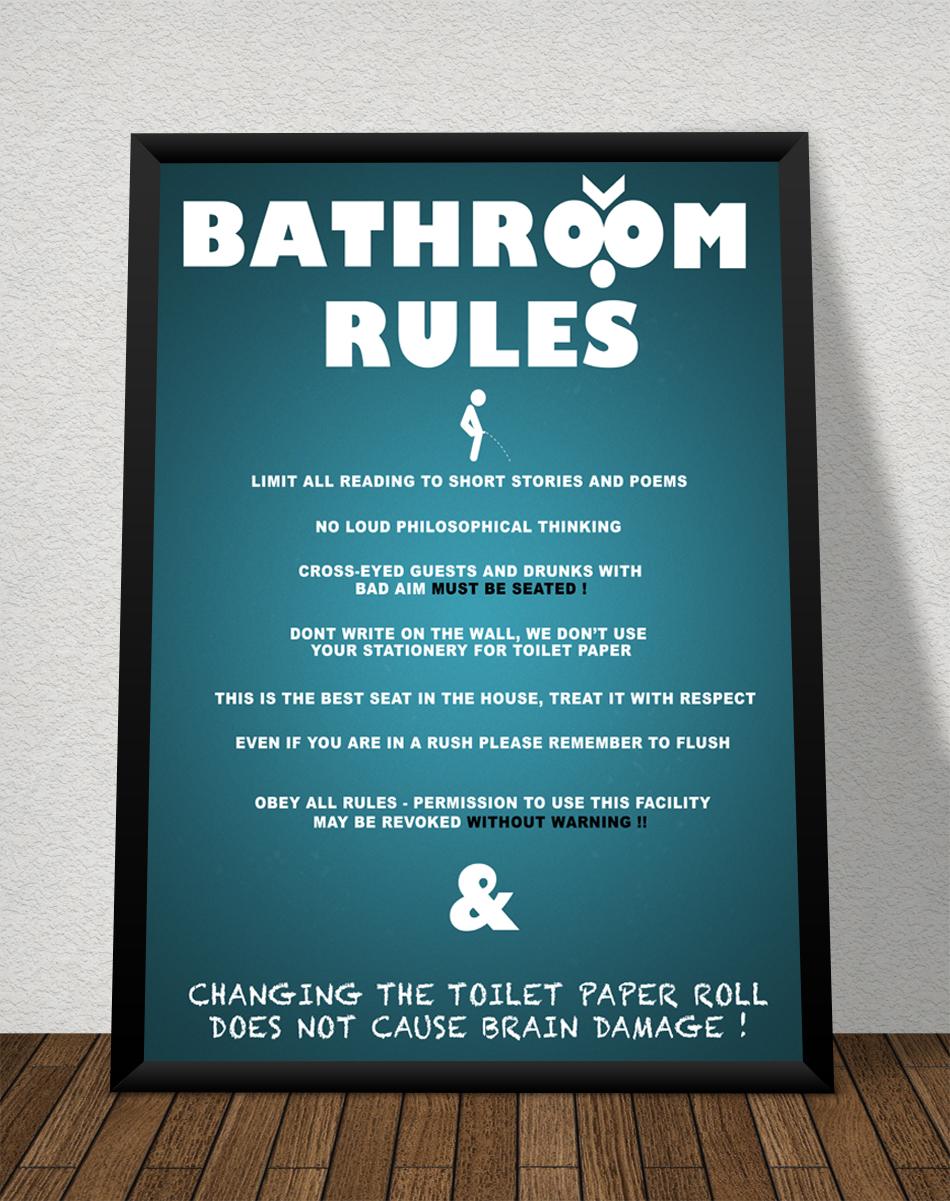 Toilet Rules Poster By Kingmartinus On Deviantart