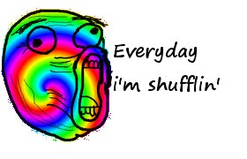 Everyday i'm shufflin' by cryptonikewolf