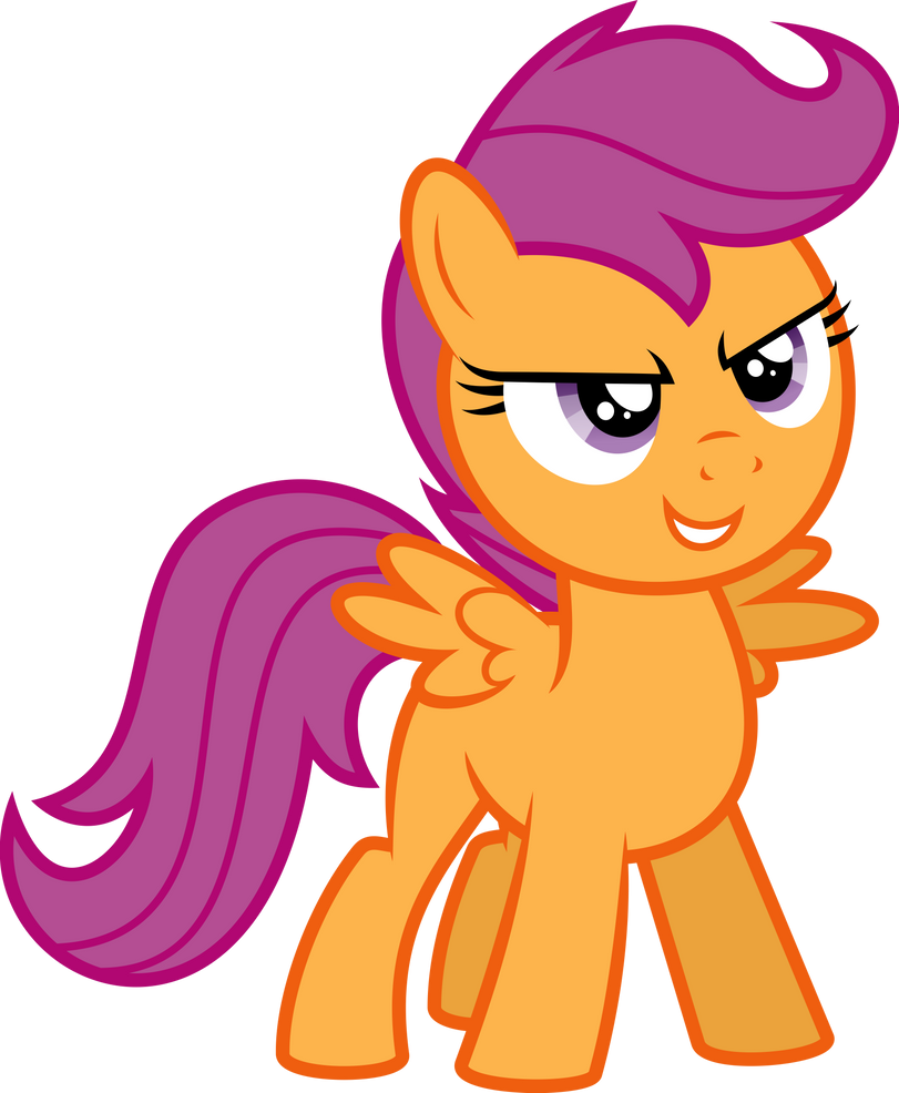 Confident Scootaloo by Soren-the-Owl