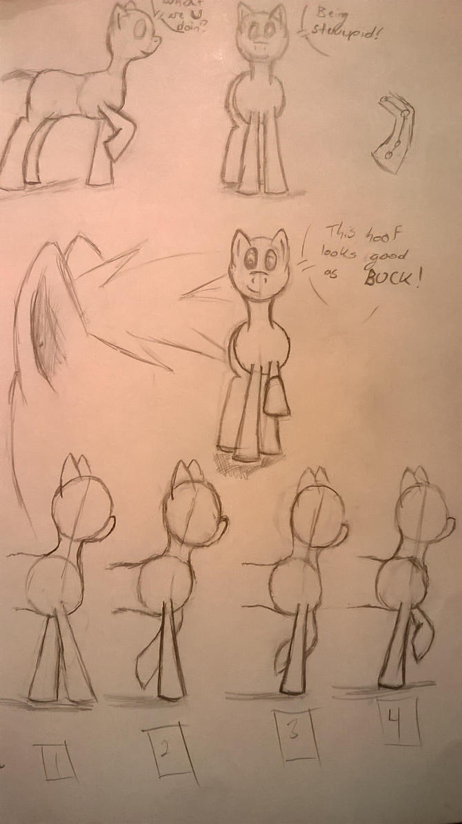 Pone Front Walk Frame Pose Practice Thingy by Soren-the-Owl