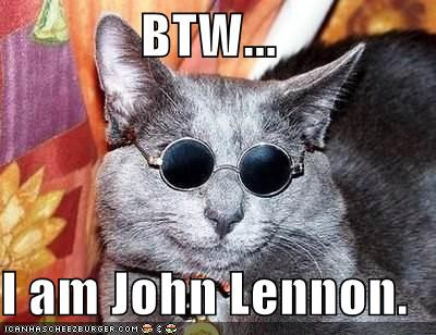 Lennon cat by Sonnyhart
