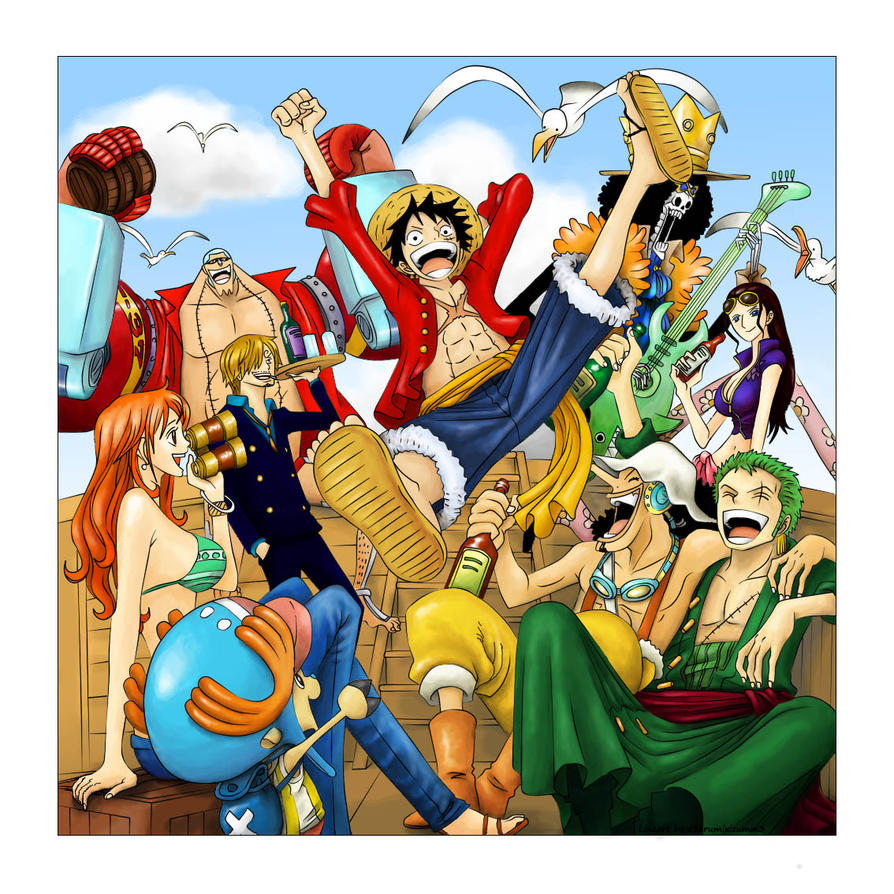 Coloured One piece line-art by TJ-Scorpio88