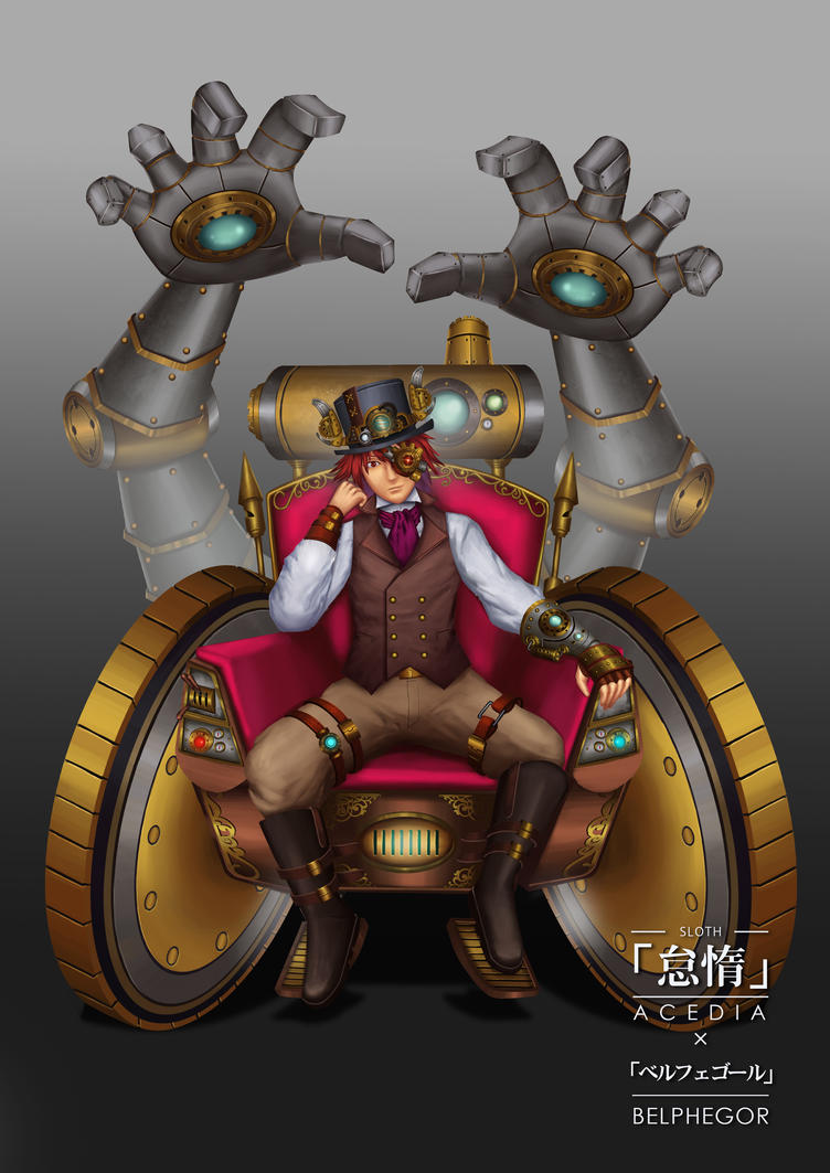 Steampunk 7 deadly sins-belphegor by PainTrigger