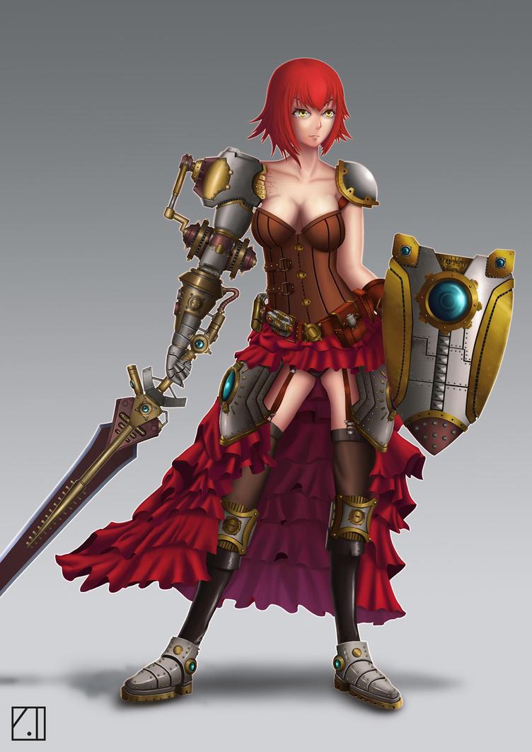 Steampunk's warrior by PainTrigger