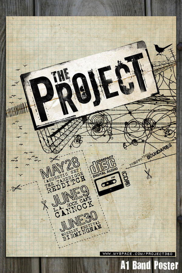 The Project . Band Poster by blueplasticbag