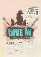 'Dive In' Indie Flyer by blueplasticbag