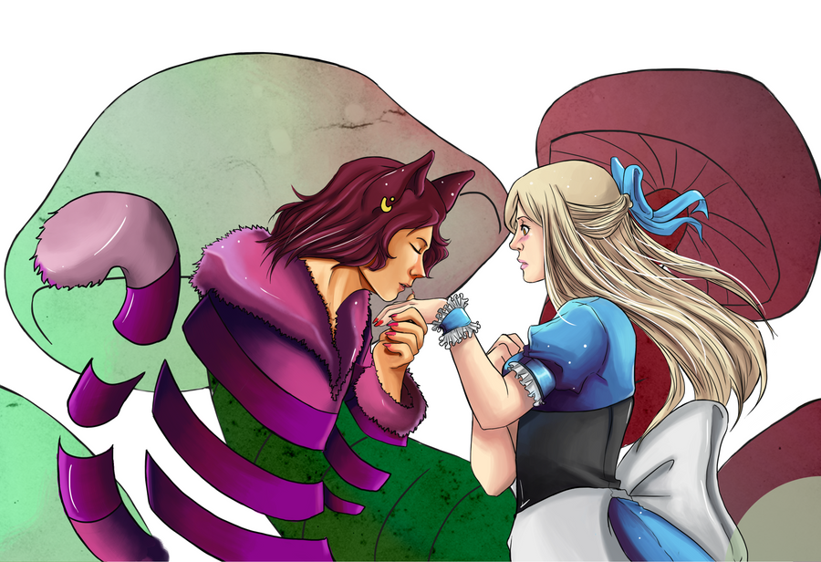 Alice and the Cheshire Cat by MidnightZone