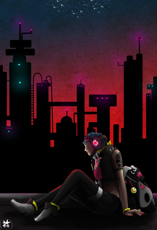 Neon City by MidnightZone