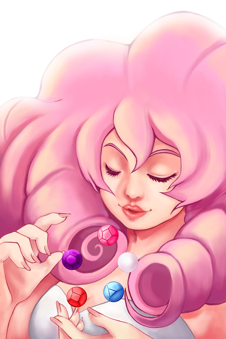 I just recently started to get into Steven Universe ;u;! I love Rose Quartz so much!