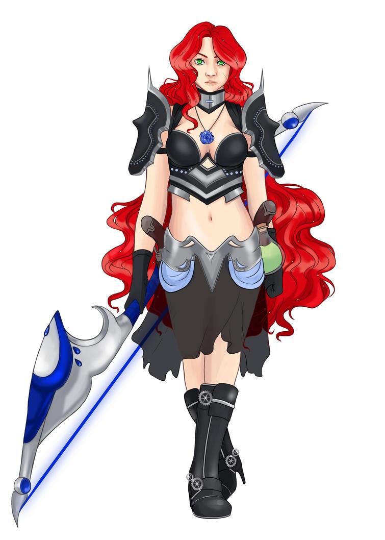 Female Warrior [C] by MidnightZone