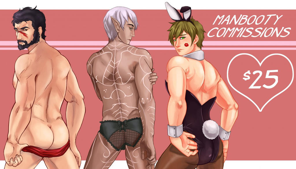 Man Booty Commissions! by MidnightZone
