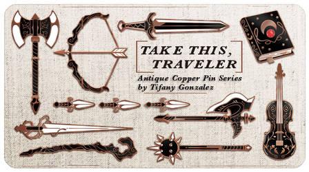 TTRPG: Take This, Traveler Enamel Pin Series