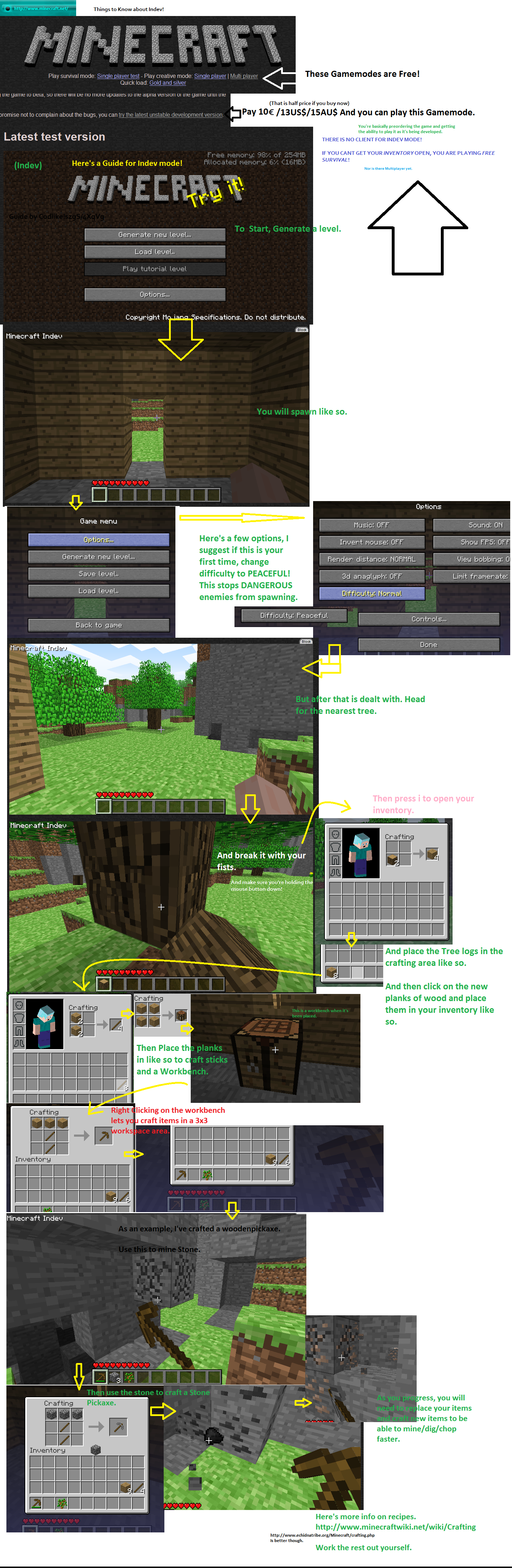 minecraft guide part i by miscelaneousgamer on deviantart. Black Bedroom Furniture Sets. Home Design Ideas