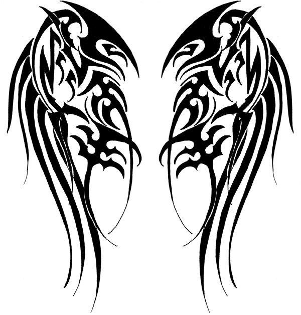tribal wings by velveteeniris on deviantart. Black Bedroom Furniture Sets. Home Design Ideas