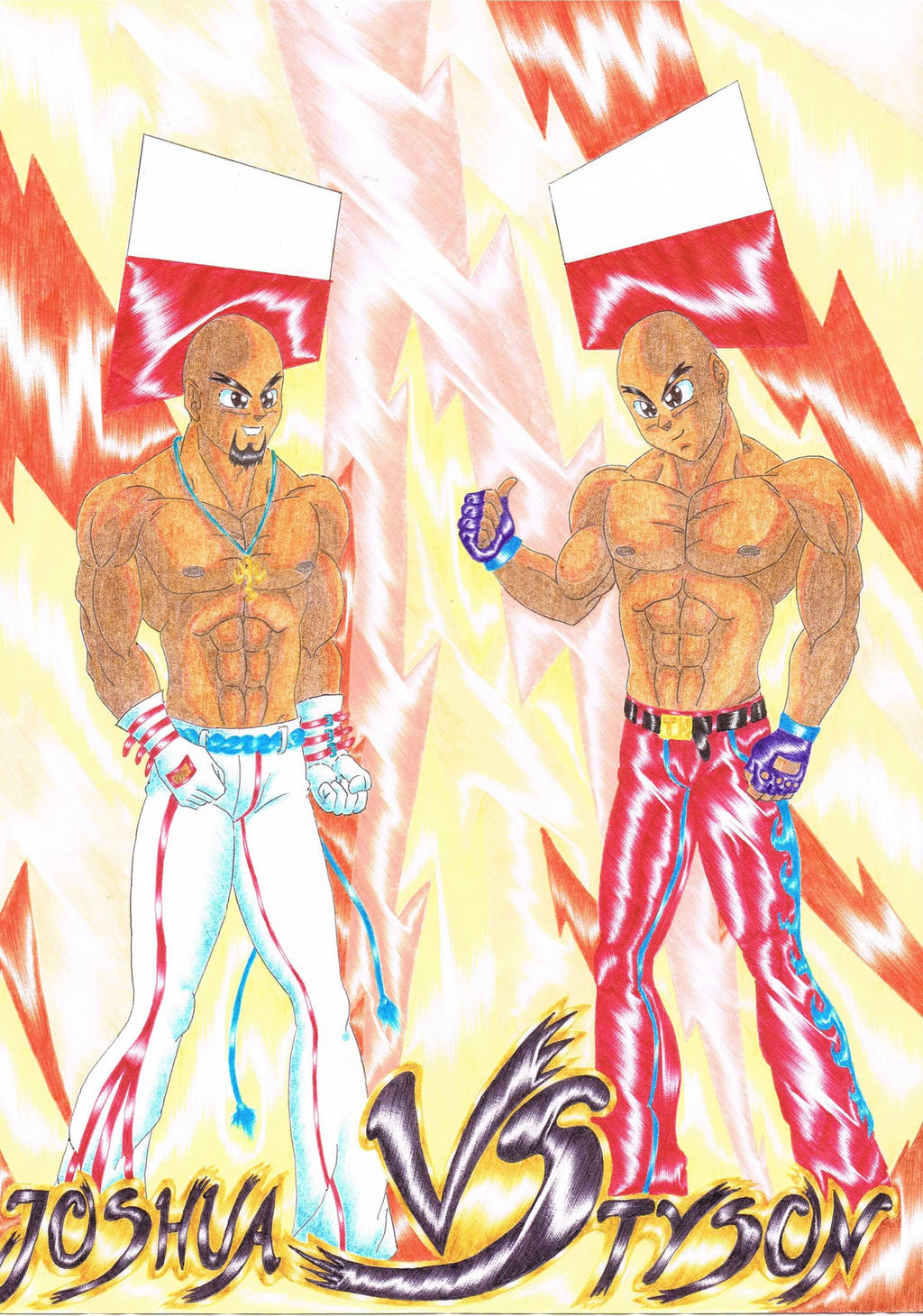 Joshua vs Tyson by LukaszMuzial
