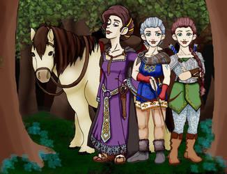 The Dwarven Ironfist Sisters by xXidrawXx