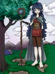 Elvish Druid by xXidrawXx