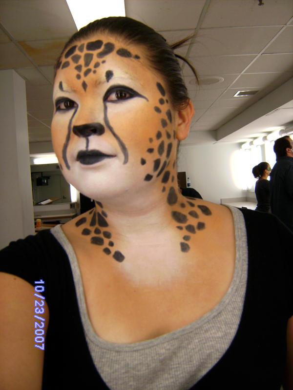 cheetah makeup 2 by blademckay on DeviantArt
